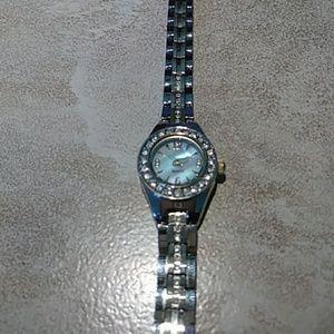 Elgin Crystal Bezel Watch